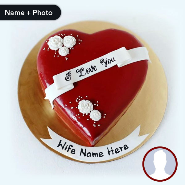 Cool Happy Birthday Cake For Wife With Name And Photo Funny Birthday Cards Online Overcheapnameinfo