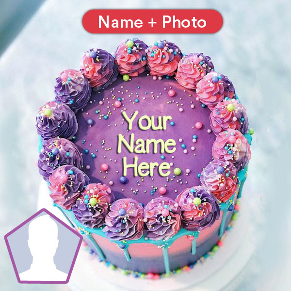 Marvelous Happy Birthday Cake For Girls With Name And Photo Birthday Cards Printable Trancafe Filternl