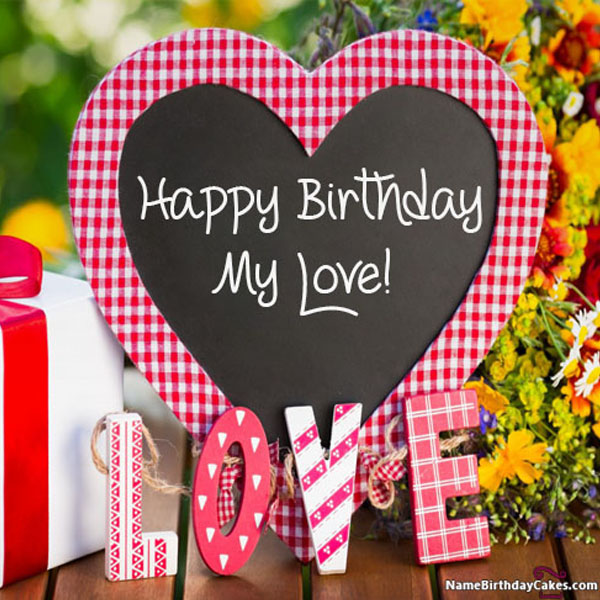 birthday cards for lover with name and photo