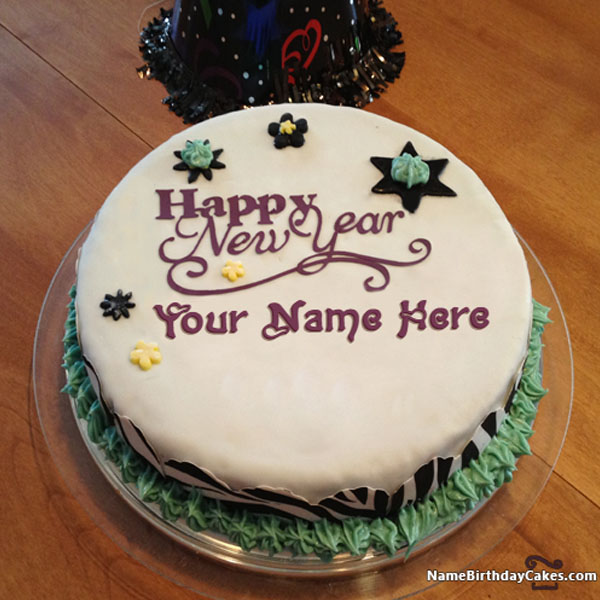 10 happy new year cake 2019 with name photo