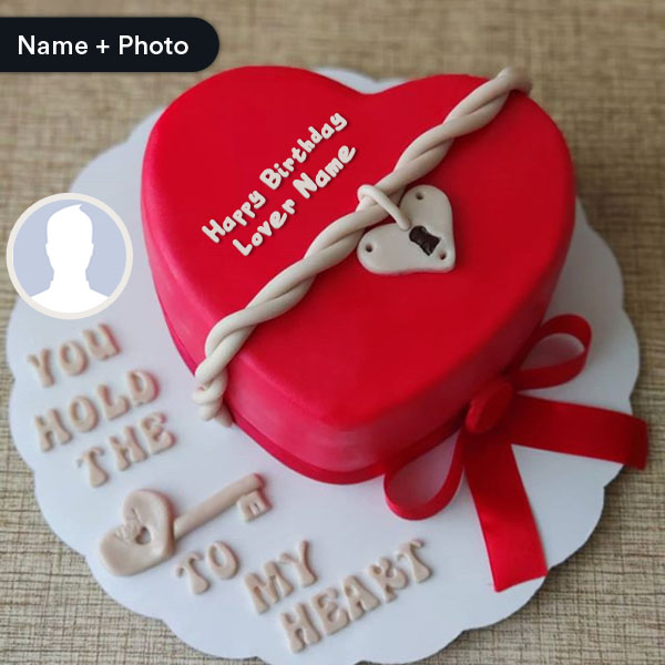 Tremendous Romantic Birthday Cake For Lover With Name Funny Birthday Cards Online Alyptdamsfinfo