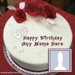 Red Rose 60th Birthday Cakes With Name