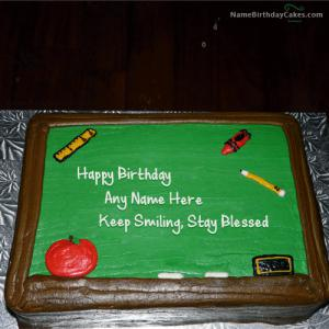 Best Birthday Cake For Teacher With Name
