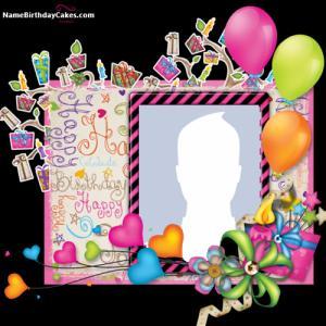 Make Happy Birthday Wishes Photo Frame