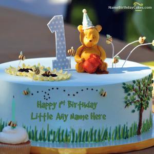 Happy 1st Birthday Cake With Name