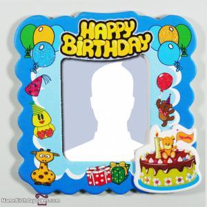 Free Happy Birthday Kids Photo Frame