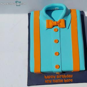 Shirt Cake For Boys On His Birthday With Name And Photo