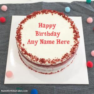 Sweet Carrot Cake For Friends Happy Birthday Wish With Name
