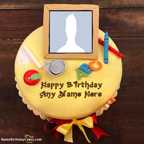 Abc Cakes For Kids Birthday With Name And Photo
