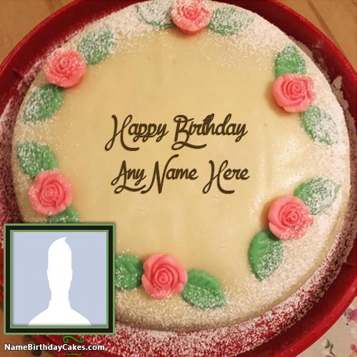 Amazing Banana Cake For Girls Birthday Wish With Name & Photo