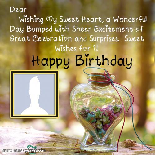 Amazing Birthday Wishes Jar With Name & Photo