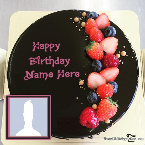 Birthday Cake With Name Wife ~ Birthday cakes for wife with name and photo
