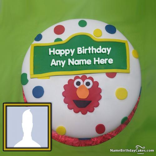 Awesome Elmo Birthday Cake Ideas With Name And Photo