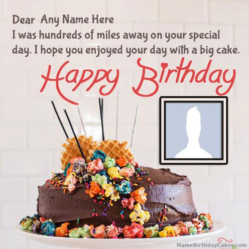 Belated Happy Birthday Wishes With Name & Photo