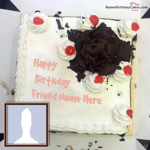 Best Birthday Cake For Friend With Name & Photo