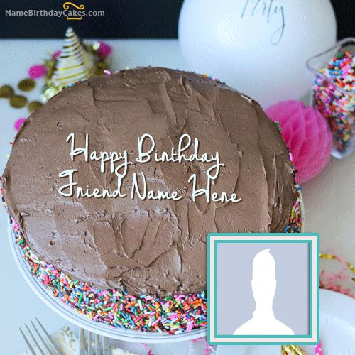 Best Chocolate Birthday Cake With Name & Photo