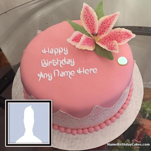 Best Strawberry Cake For Happy Birthday With Name & Photo