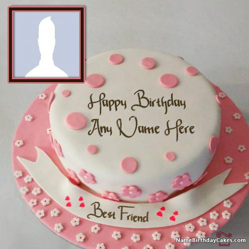 Birthday Cake For Boyfriend With Name and Photo & Photo