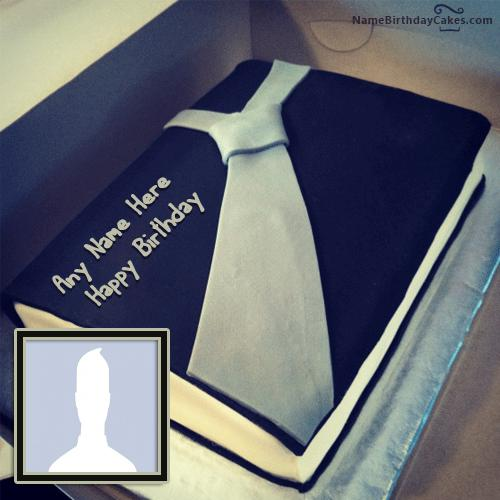 Birthday Cake For Businessman With Name & Photo