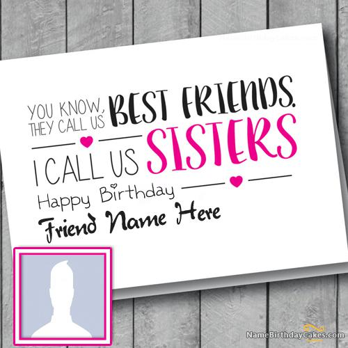 Birthday Card for Friend Sisters