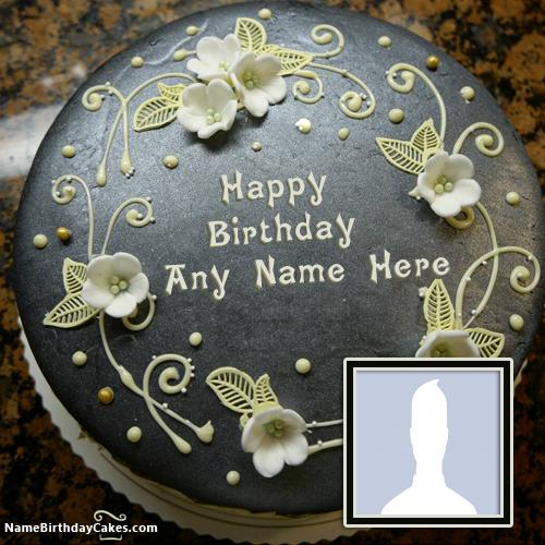 Black German Chocolate Cake For Wife Birthday Wish With Name & Photo