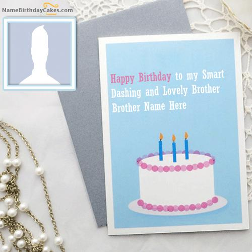 Blue Birthday Card for Brother