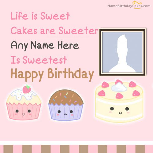 Cakes Birthday Wish With Name