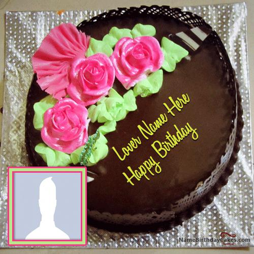 Chocolate Cake Pic With Name : Chocolate Birthday Cakes With Name