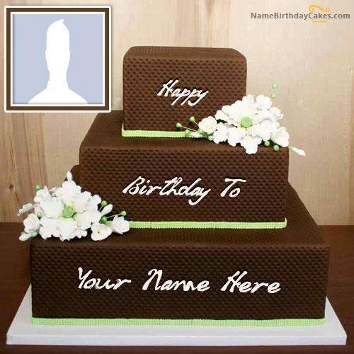 Chocolate Shaped Birthday Cake