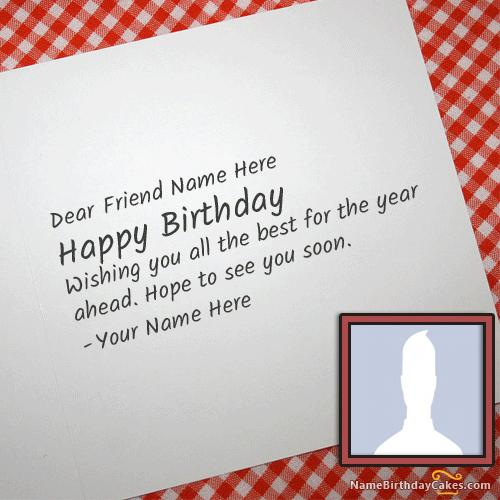 Cool Birthday Card For Any Friend With Name & Photo