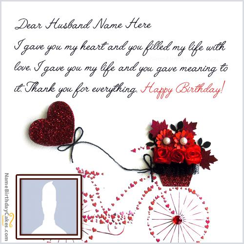 Cool Birthday Card for Husband With Name & Photo