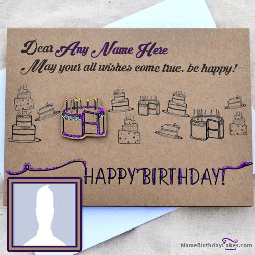 Cool Birthday Card Wish With Name & Photo