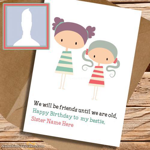 Cute Birthday Card for Sister