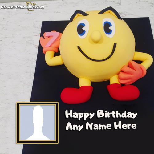 Cute Birthday Smiley Cakes For Kids With Name & Photo