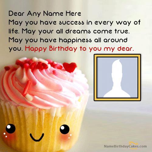Cute Cupcake Birthday Wish