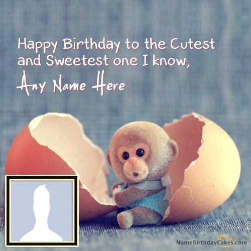 Cute Monkey Birthday Wish