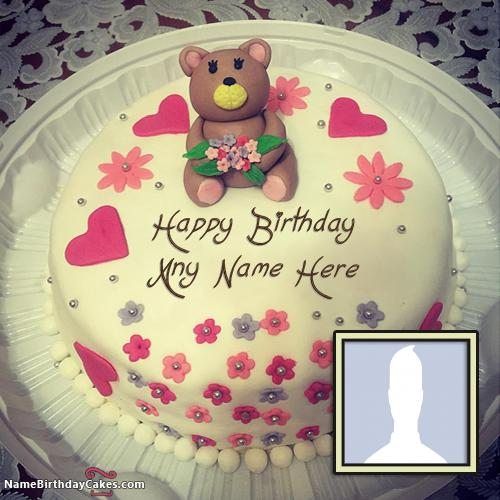 Happy Birthday Cakes for Girls with Name And Photo