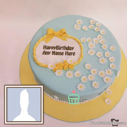 Decorated Birthday Cake For Men With Name & Photo