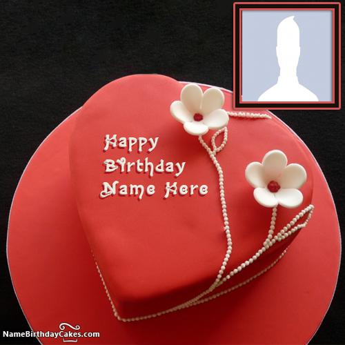 Famous Red Velvet Cake For Happy Birthday Wishes With Name & Photo