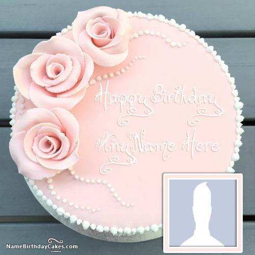 Fantastic Strawberry Vanilla Cake For Friends Birthday Wish With Name & Photo