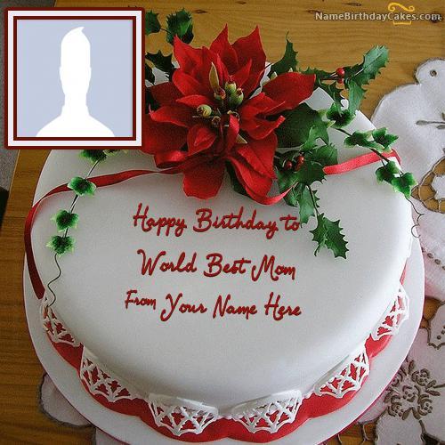 Flower Birthday Cake For Mother
