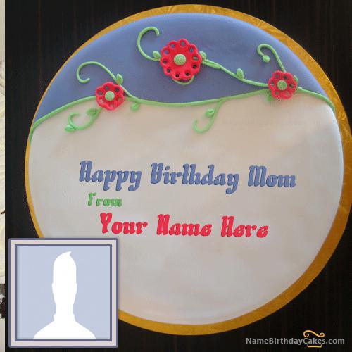 Fondant Birthday Cake For Mother