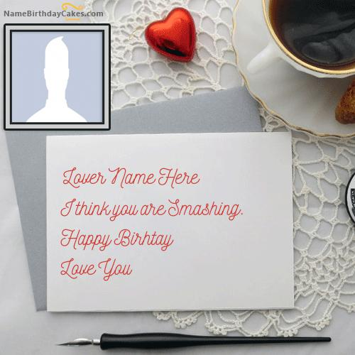Handmade Birthday Card for Lover With Name & Photo