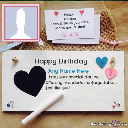 Handmade Happy Birthday Cards Message With Name & Photo