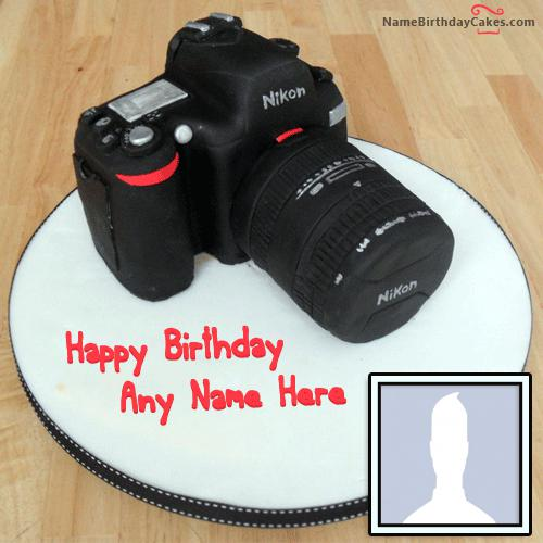Happy Birthday Cake For Photographer With Name & Photo