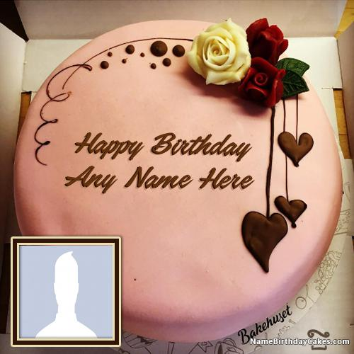 Happy Birthday Chocolate Cake With Name Edit And Photo & Photo