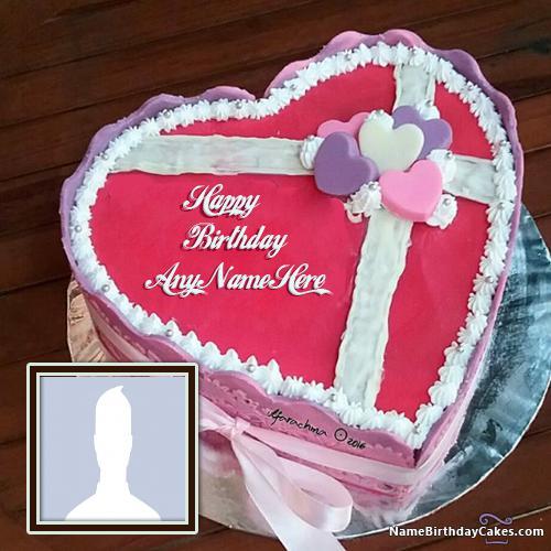 Heart Shaped Birthday Cake For Husband