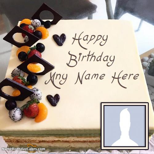 Homemade Happy Birthday Cakes For Men With Name & Photo