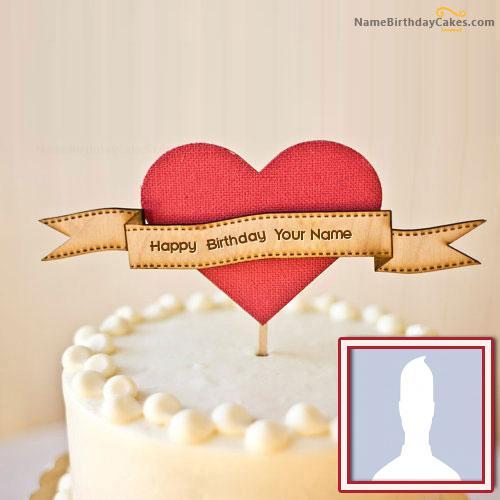 Cool Unique Happy Birthday Cake With Name & Photo