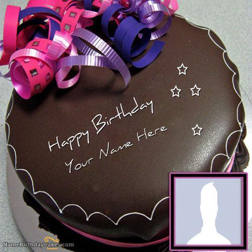 Happy Birthday Chocolate Cake With Name & Photo